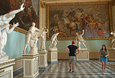 Vistors in Niobe Room at Uffizi Gallery, Florence, Italy Stock Photography