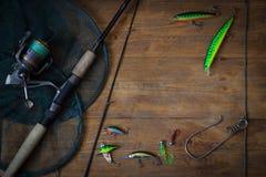 Vistuig - visserij het spinnen royalty-vrije stock fotografie