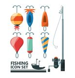 Vistuigen basis voor vangst vector illustratie