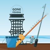 Vistuigen basis voor vangst royalty-vrije illustratie