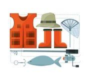 Vistuigen basis voor vangst stock illustratie