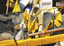 Vistuigen in de Haven - Ligurië Italië Stock Fotografie