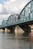 Vistula bridge, Poland Stock Photo
