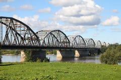 Vistula-Flussbrücke Lizenzfreies Stockbild