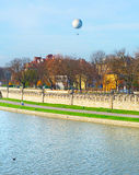 Vistula quayside in Krakow, Poland Stock Photo
