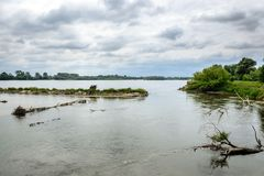Vistula River in Poland Stock Photography