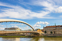 Vistula River in city center of Krakow Stock Image