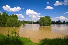 Vistula river flood Stock Images