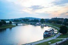 Vistula river, Krakow Stock Photos