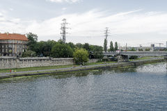 Vistula River in Krakow Royalty Free Stock Images