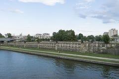 Vistula River in Krakow Stock Photography