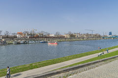 Vistula River in Krakow Stock Photos