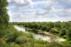 Vistula river. Old bed of the Vistula in Sandomierz (Poland Royalty Free Stock Photography