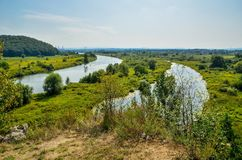 Vistula river in Poland. Stock Photo