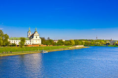 Vistula river and St. Stanislaus Church, Cracow, Poland Stock Photography
