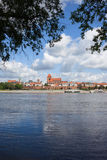 Vistula River and Torun City Skyline Stock Images