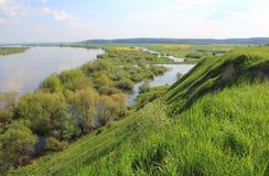 Vistula river valley in spring Stock Photo
