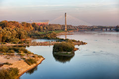 Vistula River in Warsaw Royalty Free Stock Photo
