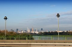 Vistula river and Warsaw panorama. Stock Image