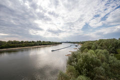 The Vistula River Warsaw. View from the bridge over the Vistula Siekierkowski Stock Photography