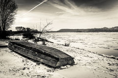 Vistula river in winter Stock Photo