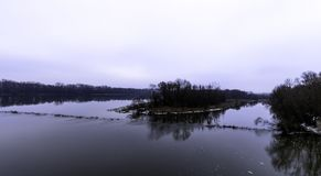 Vistula River in winter - Nowy Dwor Mazowiecki. Poland Royalty Free Stock Images