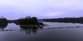 Vistula River in winter - Nowy Dwor Mazowiecki. Poland Stock Photos