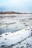 Vistula river in winter time Royalty Free Stock Photos