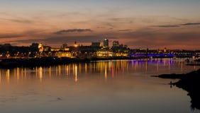 Vistula rzeka i Warszawa panorama Zdjęcie Stock