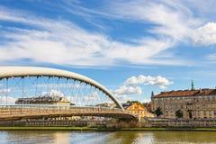 Vistula rzeka w centrum miasta Krakow obraz stock