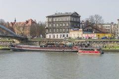 Vistula rzeka w Krakow Zdjęcia Stock
