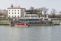Vistula rzeka w Krakow Fotografia Stock
