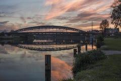 Vistula rzeka w Krakow zdjęcia royalty free