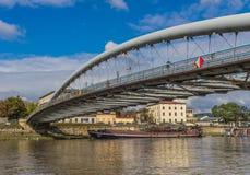Vistula rzeka w Krakow, Polska obrazy royalty free