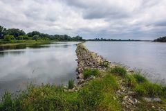 Vistula rzeka w Polska obrazy stock