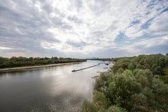 Vistula rzeka Warszawa Fotografia Stock
