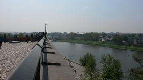 Vistulaet River Royaltyfri Fotografi