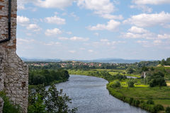 Vistularivier in Tyniec (Polen) Royalty-vrije Stock Foto