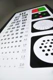 Visual acuity chart Stock Photos