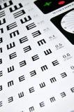 Visual acuity chart Stock Photo