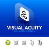 Visual acuity icon in different style Stock Images
