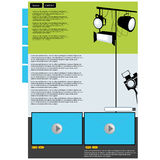 Visual art web page layout. With preview screen Royalty Free Stock Photography