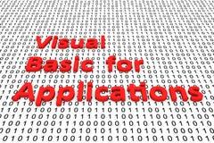 Visual Basic per le applicazioni Fotografia Stock Libera da Diritti