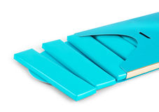 Visual of blue wrap plastic foil packet, packaging or wrapper fo Royalty Free Stock Images