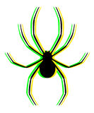 Visual color spider Stock Photography