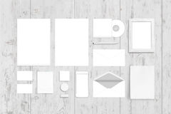 Visual corporate identity top view template. Logo, design presentation Royalty Free Stock Photography