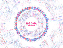 Visual data stream information. Abstract data conection structure. Futuristic information complexity. stock illustration