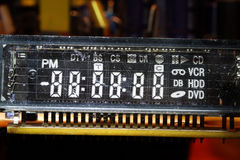 Visual display unit for TV control box. Stock Photo