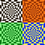 Visual effect. Geometrically correct two-tone pattern in the form of a lattice Royalty Free Stock Image