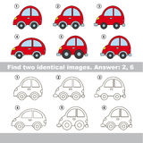 Visual game. Find hidden couple of vehicles. Royalty Free Stock Photography